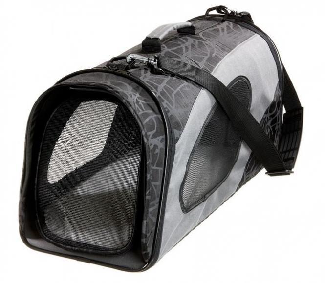 Faltbare Transporttasche S für Katzen und kleine Hunde Schwarz