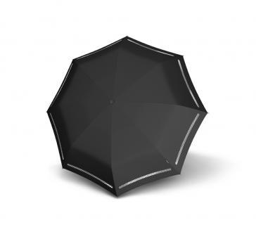 Automatischer Taschenschirm reflektierend Reflective Black