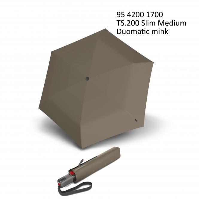 Automatischer schmaler Taschenschirm mink