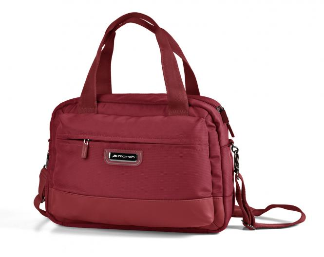 stow a'way Schultertasche Laptopfach 13 Zoll red