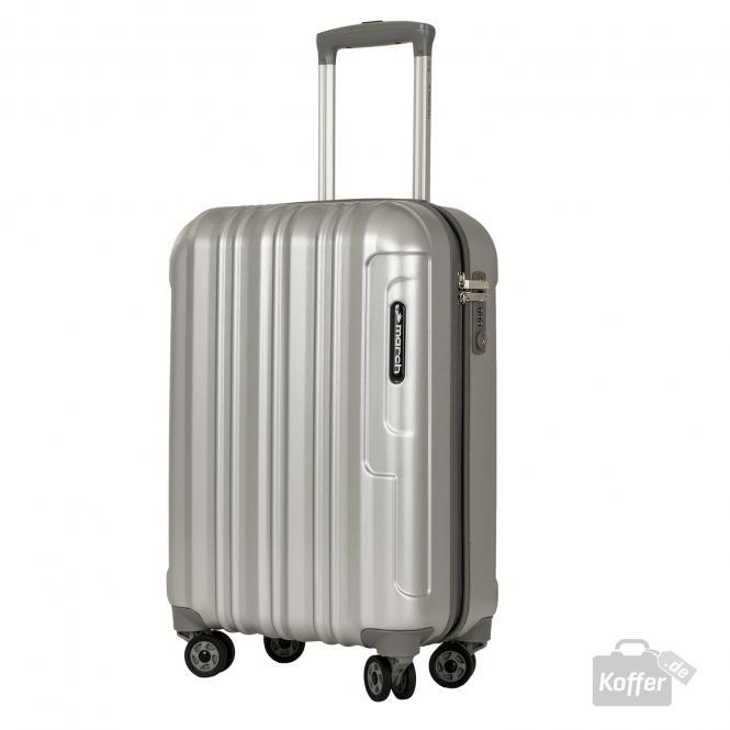 4-Rollen-Trolley S silver brushed alu look