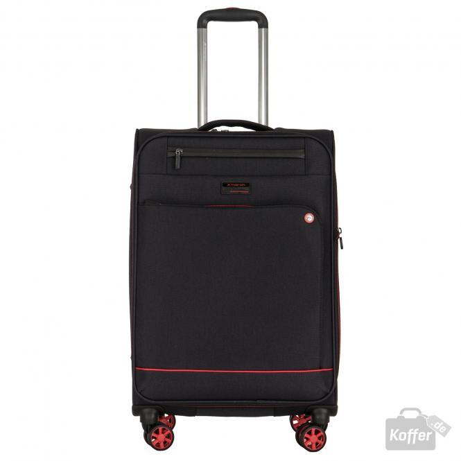 Trolley M 4w erweiterbar black/red