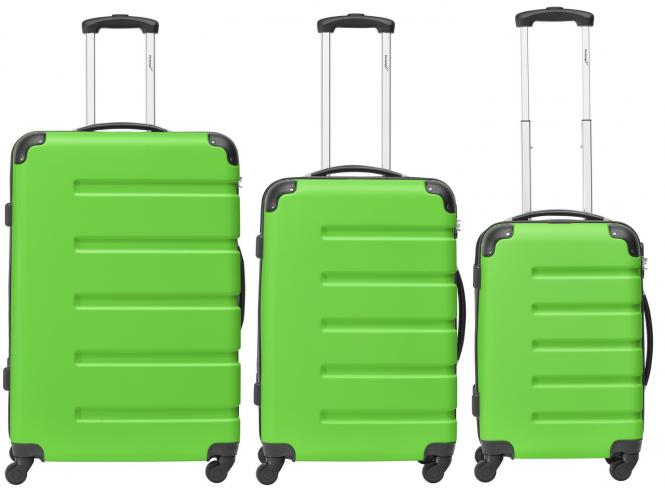 Koffer 3er-Set M, L + XL Grün