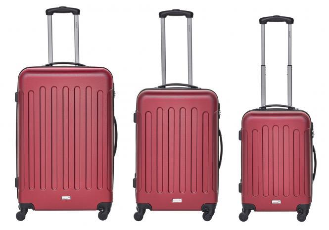 Koffer 3er-Set M, L + XL Rot