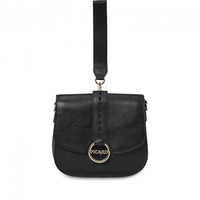 Damentasche aus Leder 9023 schwarz