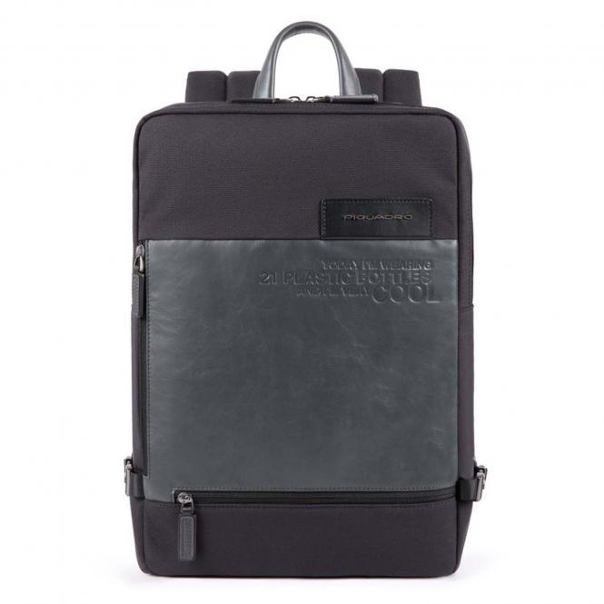 Großer Laptoprucksackaus recyceltem Stoff schwarz