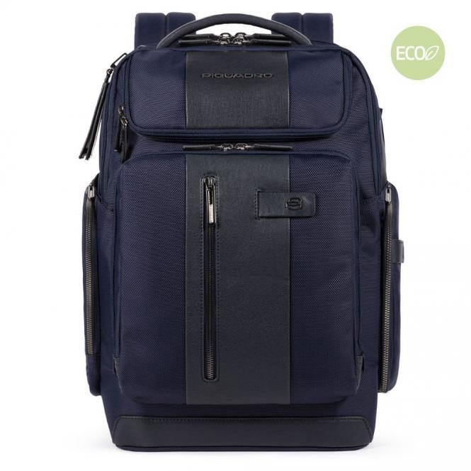 """Rucksack mit Reißverschlusstasche oben 15,6"""" Blau"""