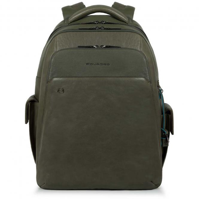 """Laptoprucksack 15"""" mit CONNEQU-Anhänger grün"""