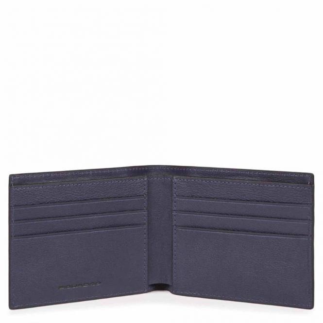 Schmale Herrenbrieftasche mit RV-Münzfach oceanblau