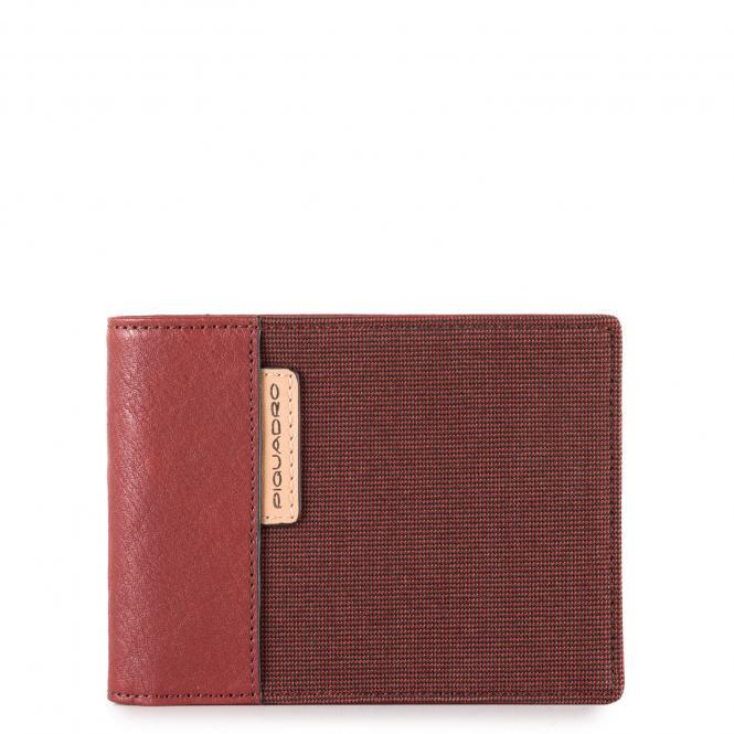 Herren-Brieftasche mit Kleingeldfach rot