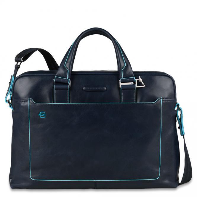 Kurzgriff-Laptoptasche mit iPad®-Fach, Schirm/ Flaschentasche Nachtblau