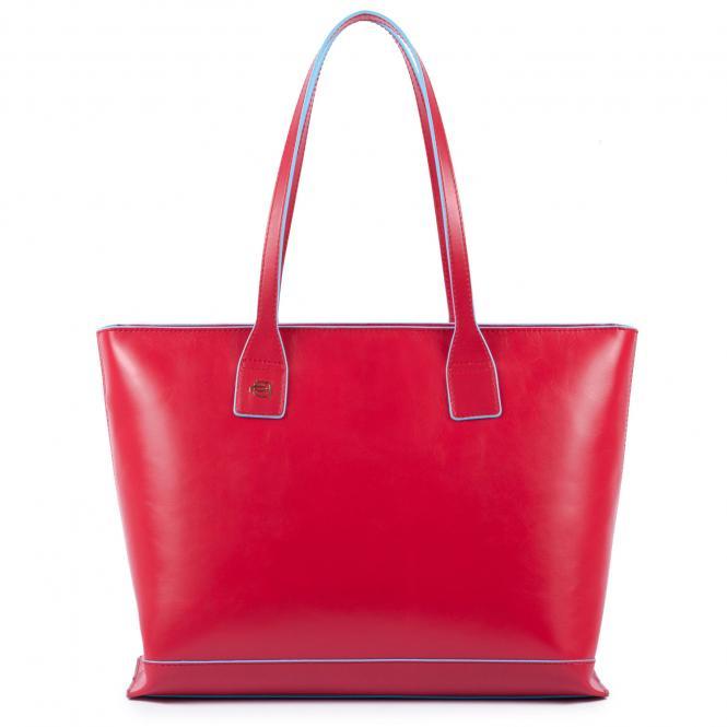 Shopper mit iPad-Fach cherry red