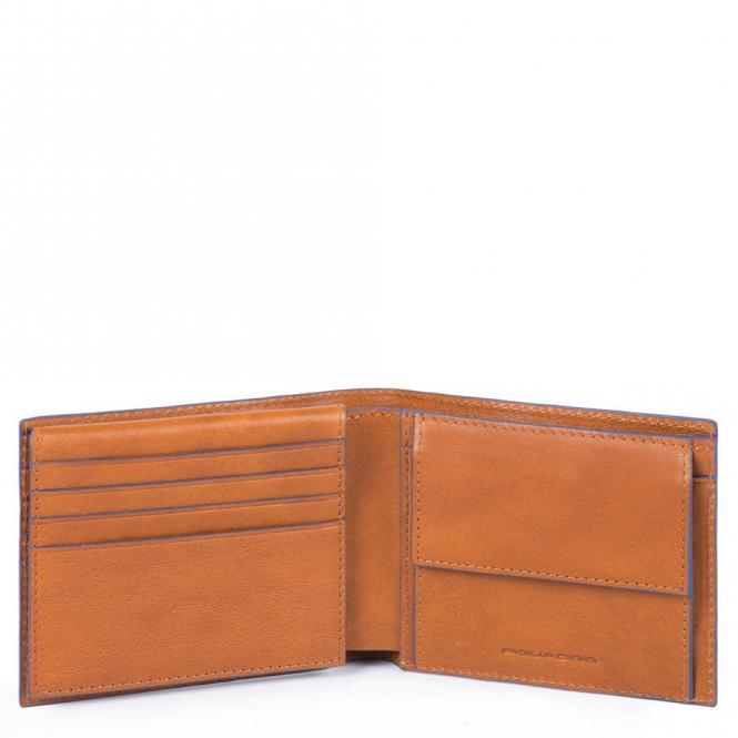 Herrenbrieftasche mit Klapp-Ausweisfenster cuoio tabacco