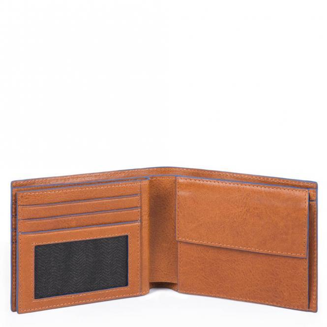 Herrenbrieftasche mit Münzfach, Kreditkarten cuoio