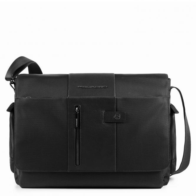 """Kuriertasche mit Laptopfach 14"""" mit CONNEQU-Tasche schwarz"""