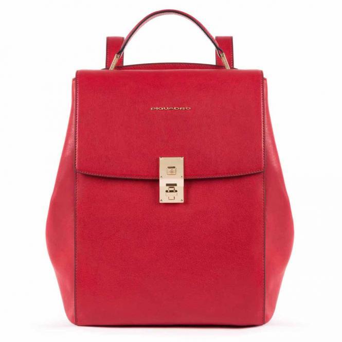 Ausdehnbarer Damenrucksack mit iPad®Pro 12,9''- rot