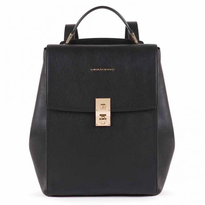Ausdehnbarer Damenrucksack mit iPad®Pro 12,9''- schwarz
