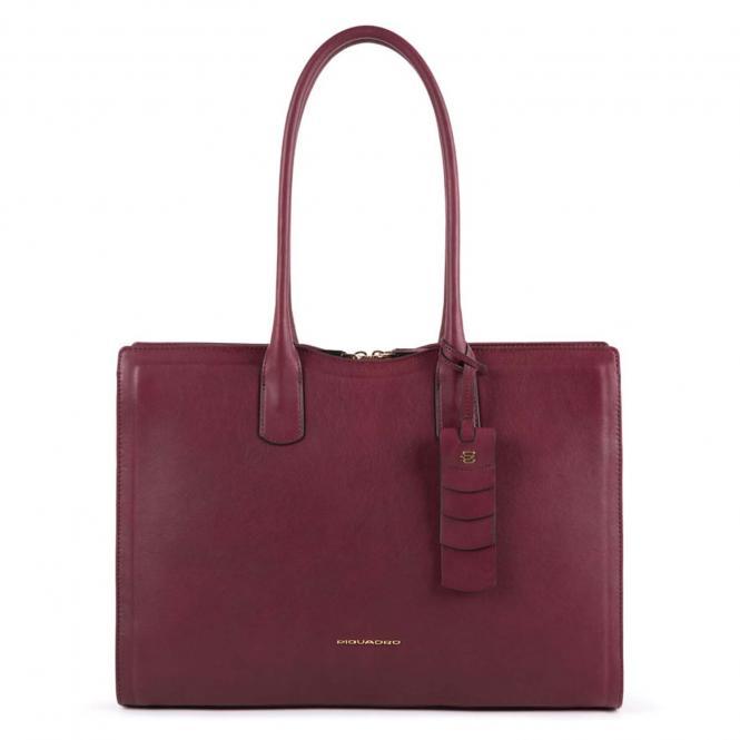 Große Damenlaptoptasche mit Anti-Stoss Schutz burgundy