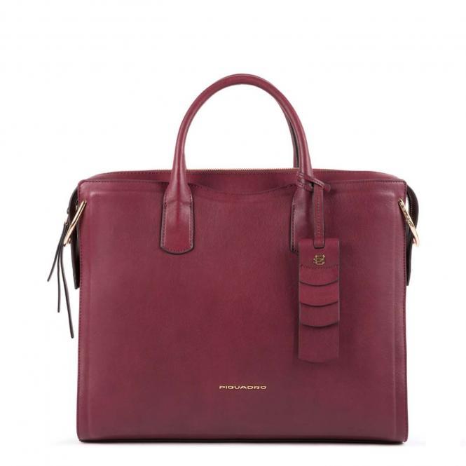 "Kurzgrifflaptoptasche 14"" mit Anti-Stoss Schutz burgundy"