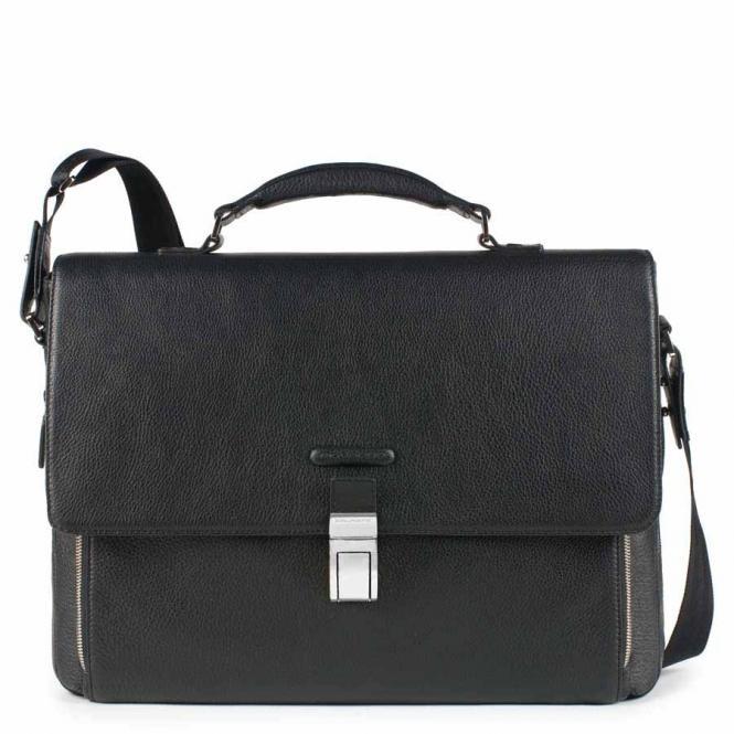 """Erweiterbare Laptoptasche mit Überschlag 15"""" schwarz"""