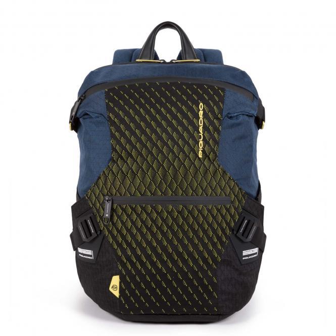 """Laptoprucksack 14"""" mit iPad®-Fach, Schrim- oder Flaschentasche blue/lime"""