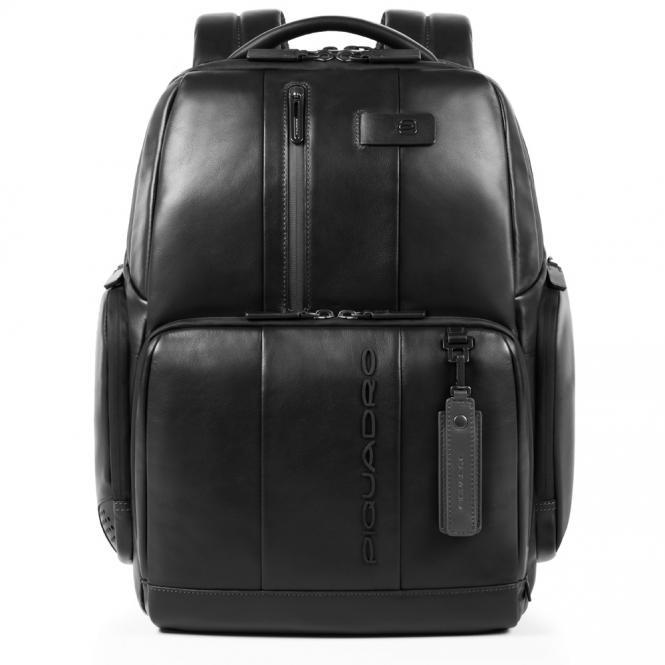 Personalisierbarer Fast Check Laptopruckack schwarz