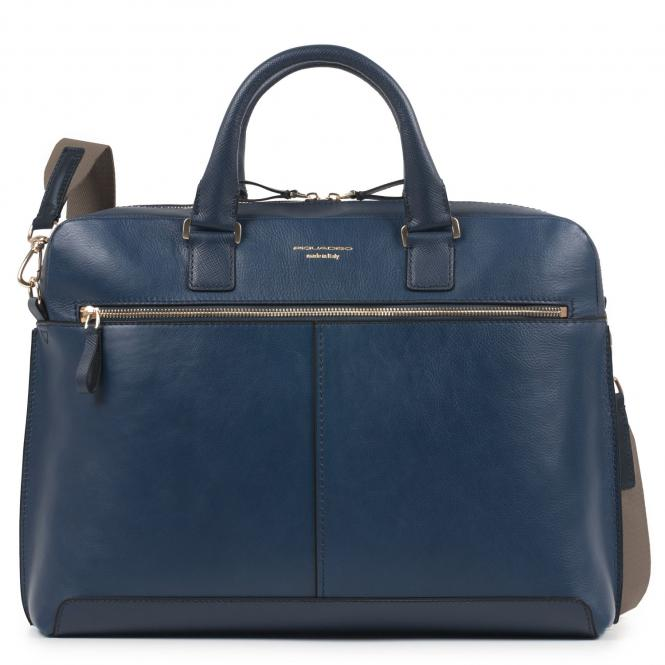 Kurzgrifflaptoptasche mit gepolstertem iPad®-Fach blau