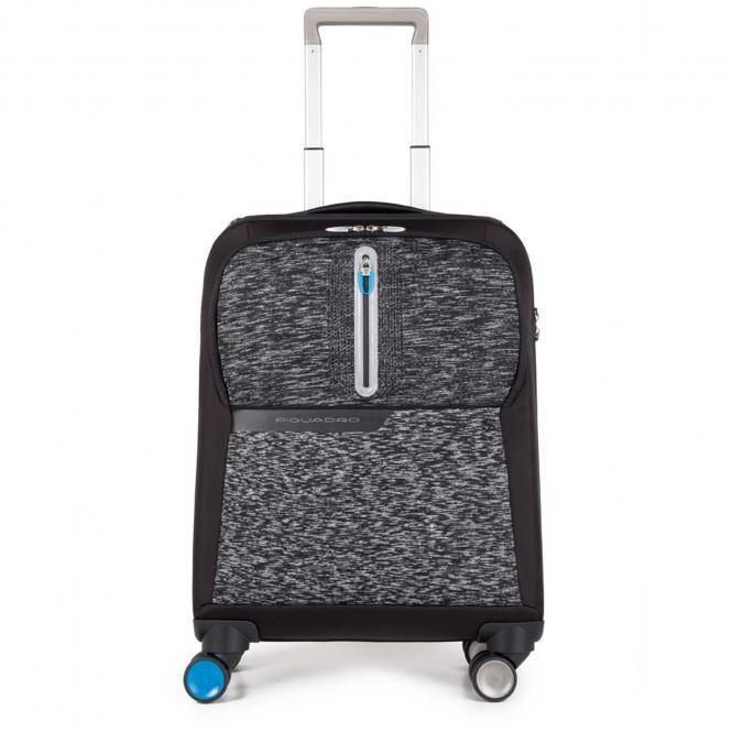 Laptop Kabinentrolley mit USB-Anschluss Schwarz