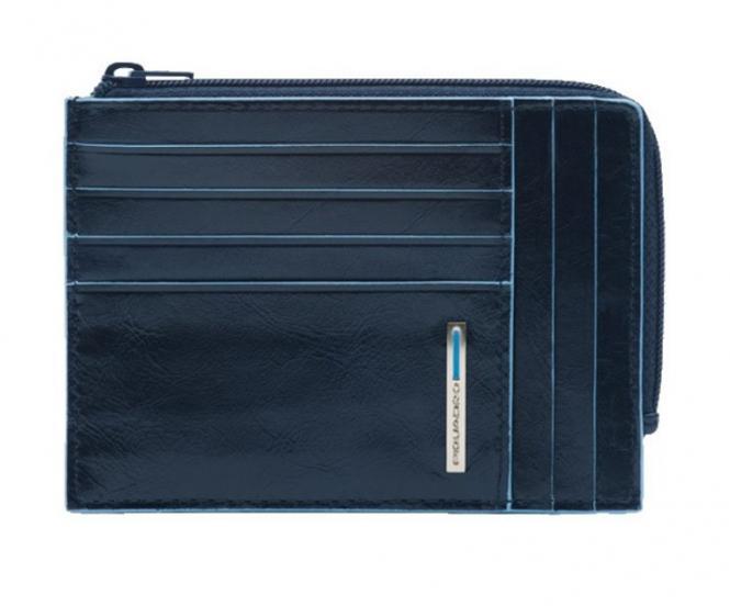 Börse mit Hartgeldfach, Dokumentenfach und Kreditkartensteckfächern Nachtblau