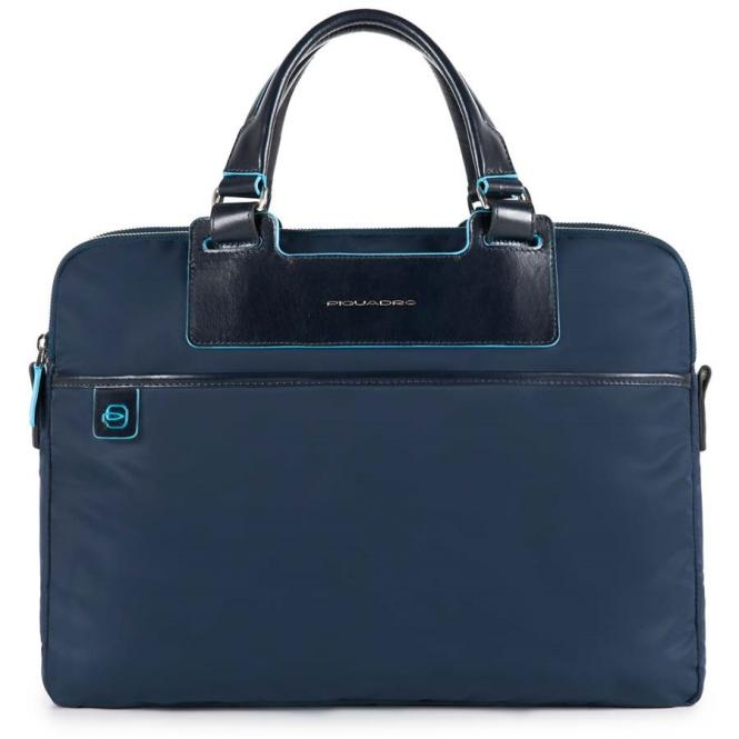 Kurzgriffaktentasche mit RV-Vortasche und herausnehmbarer PC-, iPad®-Hülle mit Orga-Fäc blau