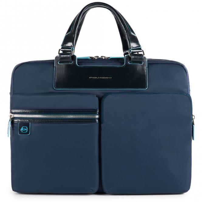 """Kurzgriffaktentasche 15.6"""" mit herausnehmbarer PC- und Tablet-Hülle Blau"""