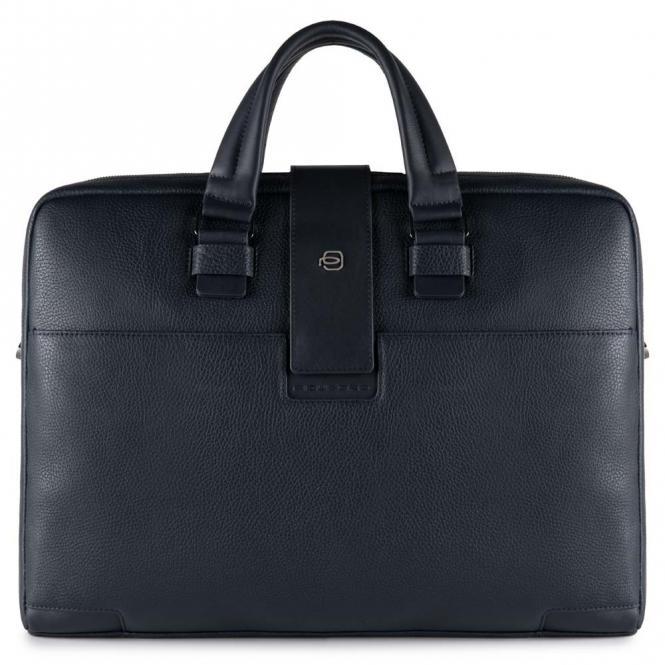 Kurzgriff-Laptoptasche mit zwei Fächern und iPad®Air/Pro 9,7-Fach Nachtblau