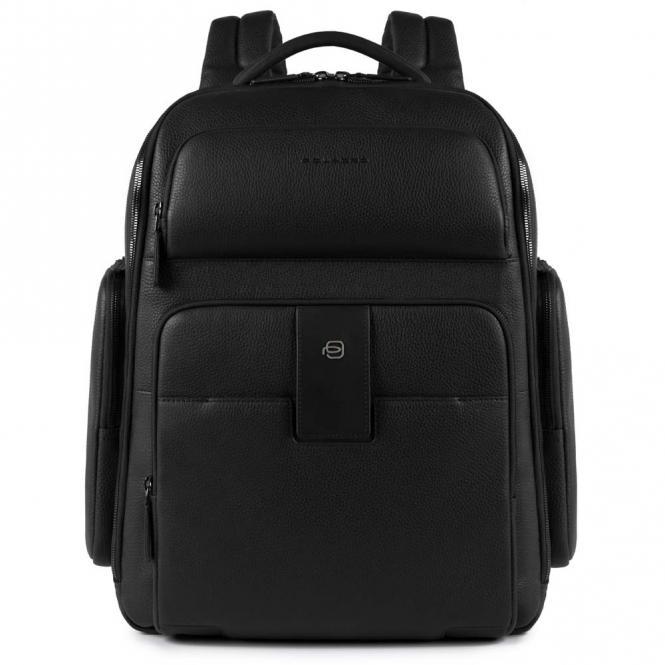 Laptoprucksack mit iPad®Air/Pro 9,7-Fach, Regenschirm- una Flaschentasche schwarz