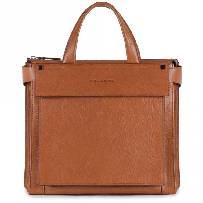 Damentasche mit iPad®Air/Pro 9,7-Fach cuoio tabacco