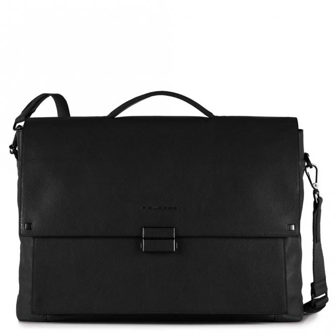 Große Laptoptasche mit Überschlag und iPad®Air/Pro 9,7-Fach schwarz