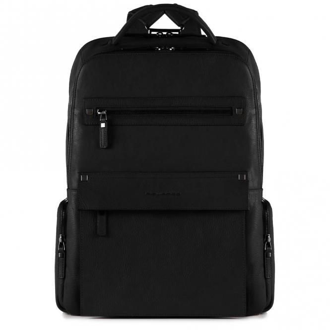 Laptoprucksack mit iPad®Air/Pro 9,7-Fach, Regenschirm- und Flaschentasche schwarz