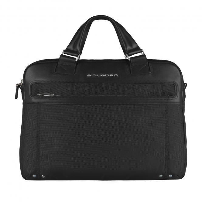 """Doppelgriff-Laptoptasche 15"""" mit iPad®-/iPad®Air-/iPad®mini-Fach Schwarz"""