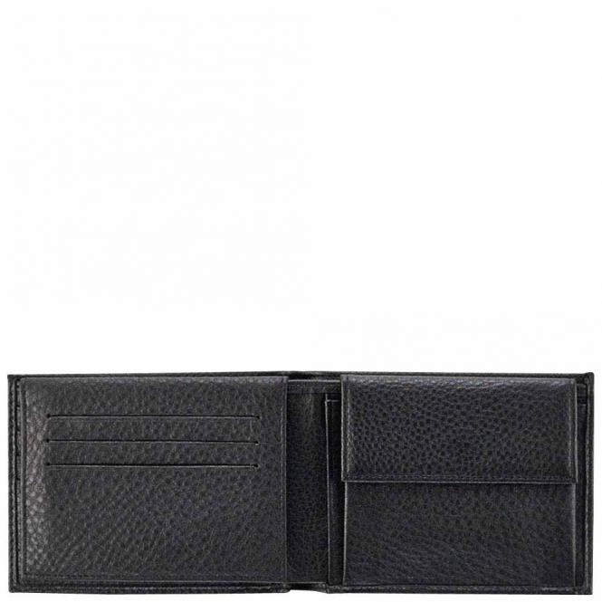 Herrenbrieftasche mit Portemonnaie, Kreditkartensteckfächern und Dokumentenfach black