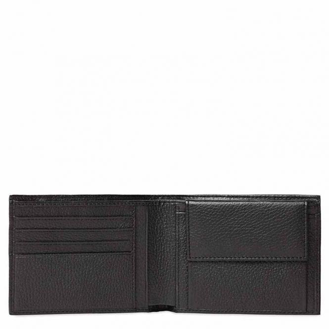 Herrengeldbörse mit Münzfach und Kleingeldfach Schwarz