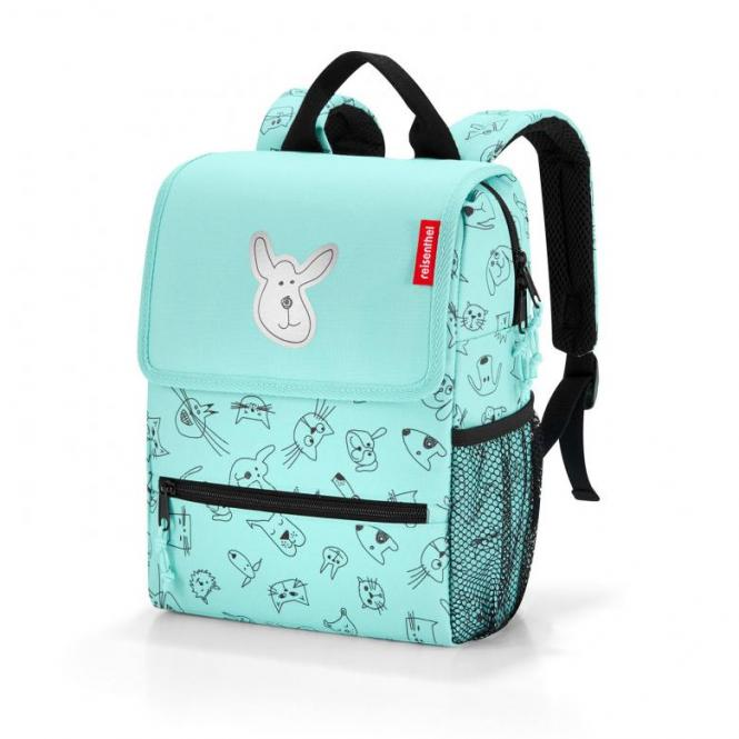 Rucksack Backpack cats and dogs mint