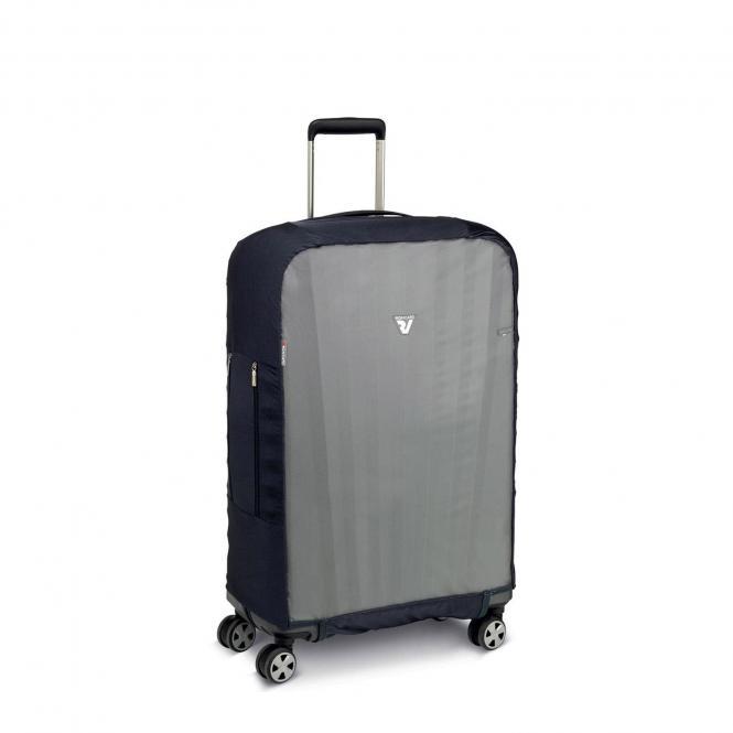 Kofferabdeckung / Kofferhülle M schwarz/grau