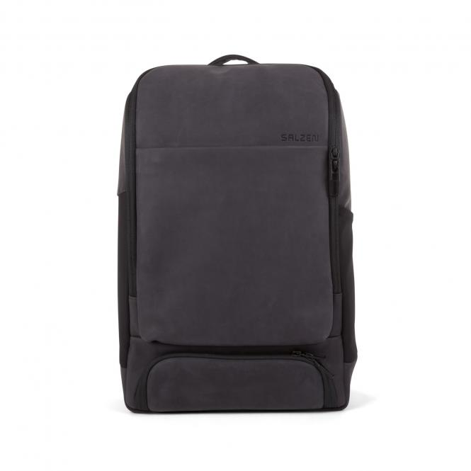 """Leather 15,6"""" Charcoal Black"""