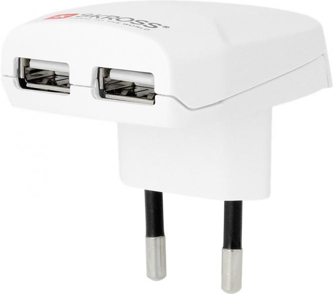 Euro USB Charger Weiß