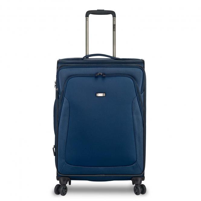 Trolley M, 4 Rollen, erweiterbar blau