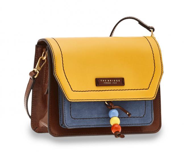 Multicolor Damentasche Yellow/Brown/Blue/Vintage Gold