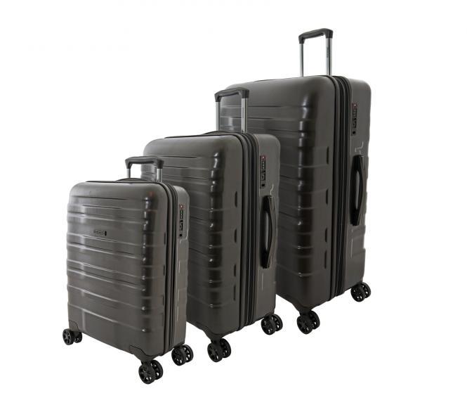 Trolley Set 3-tlg. S / M / L, 4 Rollen Anthrazit