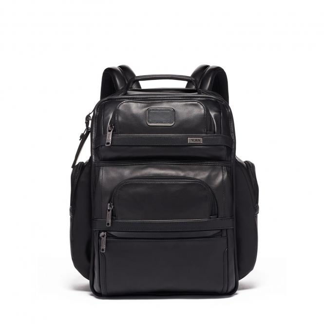 "Brief Pack® Rucksack Leather 15"" Black"