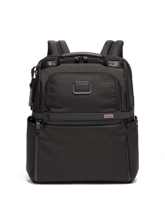 Brief Pack Rucksack aus Ballistic Nylon, schmal black