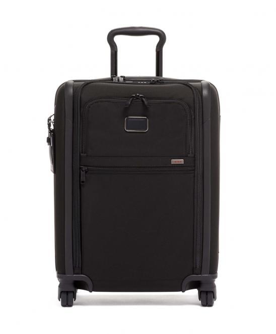 Koffer auf 4 Rollen, 56cm, schmal black