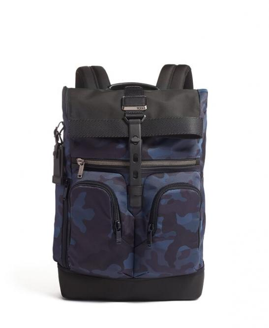 Lance Rucksack Navy Camouflage-Recycled